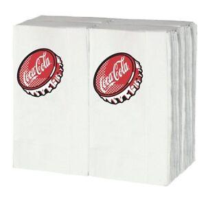 "TableCraft Coca-Cola ""Bottle Cap"" 100ct Logo Napkins - fits CC301 Dispenser"
