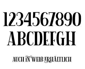 Hausnummer Zahlen Buchstaben Aufkleber Selbstklebend Briefkasten Mülltonne