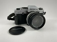Olympus OMG 35mm SLR Film Camera With 50 Mm Zuiko Lens, Case, Lanyard, Powers on
