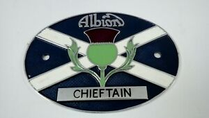 Vintage Albion Chiftain Lorry/Truck Metal Badge - Scottish Thistle