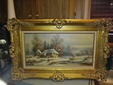 BEAUTIFUL! ALBRECHT BRINKMANN ORIGINAL OIL ON CANVAS PAINTING FRAMED!