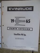 1965 Evinrude 90 HP Starflite Blue Gray Models Outboard Motor Parts Catalog L