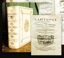 1750 Chariton von Aphrodisias Schulpreisband Amsterdam Wappen-Supralibros