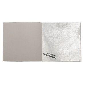 10 Blatt Echtes Blattsilber 6cm x 6cm Echt Silber zum Versilbern