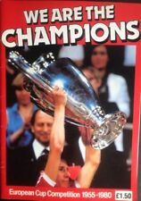 We Are The Champions Paperback European Cup Competition - Liverpool, Man U Rare