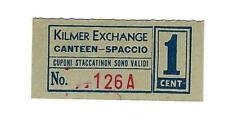 USA WW2 POW Camp Chit Italian Service Unit Camp Kilmer1 cent NJU-29-2-1 UNC
