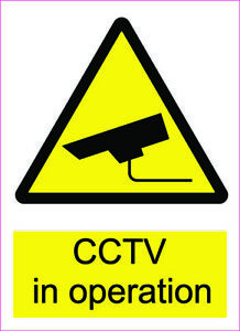 CCTV Sticker, CCTV IN OPERATION Sign For Business, Home, Garage, Shop, Store s2