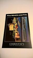 #2 Märklin Vintage Tin Toy CHRISTIE'S ASTA carta ORIGINALE 1999 BARCA MARKLIN