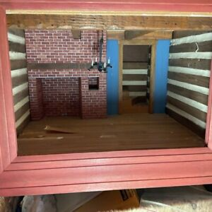 Artisan Designed Framed Wood Country Room Box 1/12 Scale Ready to Furnish
