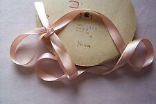 Vtg Pink Cotton RIBBON Millinery Hat Bonnet TRIM Ties 4 Antique Doll 2 yards