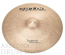 Istanbul Agop 17 Traditional PAPER THIN Crash 1097g NEW IN STOCK, FREE SHIPPING