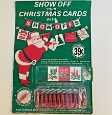 Vintage Show Off Your Christmas Cards With Show-Offs Pack of 25 1964 Unused