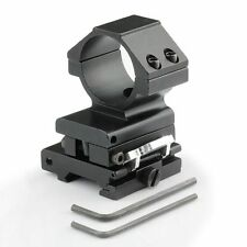 30MM Flip To Side QD Scope Mount For AP ET Magnifier Riflescopes Ring 20mm Rail