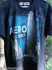 AEROPOSTALE MEN'S SIZE L BLACK T-SHIRT-SCREEN PRINT-SHORT SLEEVE-CITISCENE-NYC