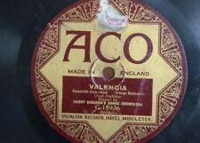 78 rpm HARRY BIDGOOD ORCH valencia / RIO GRANDE ORCH then i`ll be happy