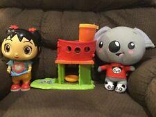 Nickelodeon Ni Hao Kai-Lan lot animated talking doll, plush Tolee & treehouse