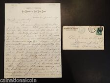 James & Brown Civil Engineers and Real Estate Agents Letter and Envelope 1877