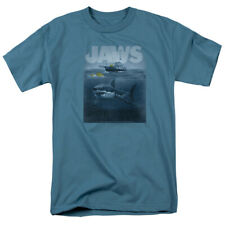 Jaws 1975 Thriller Movie Steven Spielberg Silhouette Adult T-Shirt Tee