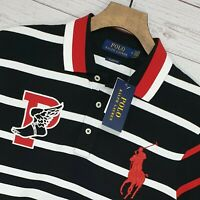 """⭐ Polo Ralph Lauren classic fit P-Wing big pony striped Polo shirt size M 38-40"""""""