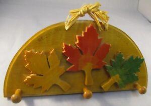 Canada Maple Leaf Design Key Hanger Rack - Maple Wood - Handmade in Canada