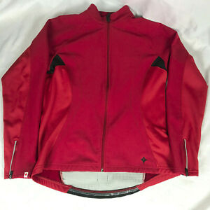 SPECIALIZED Women's Insulated Thermal Cycling Jacket XL High Vis Red Reflective