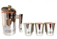 Jug Copper,Decanter Drinkware Set of 6, Water Glasses Pitcher Capacity 1.5