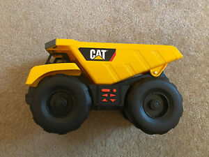 """Toy State Yellow CAT Dump Truck 12"""" Motion, Sounds & Lights TESTED Video In desc"""