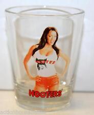HOOTERS GIRL - SHOT GLASS - 25th Anniversary - Restaurant Waitress - BRUNETTE #1
