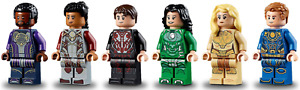 Brand New Lego All 6 ETERNALS minifigures from set 76156