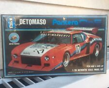 BLUE TANK - DETOMASO PANTERA Gr.5 RACE CAR - 1/28 MOTORIZED MODEL KIT (SEALED)