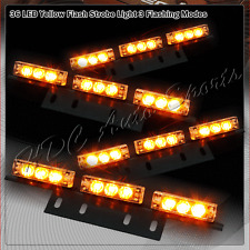 36 LED Amber Car Truck Emergency Hazard Warn Flash Strobe Light Bar Universal 6