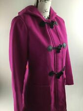 JESSICA SIMPSON Girls Hot Pink Skirt Bottom Hooded Duffle Coat Size XL (16)