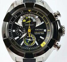 Reloj Cronógrafo Seiko Velatura Nuevo Para Hombre de Cuarzo Temporizador Yachting/alarma SPC147P1