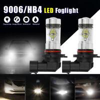 2x 9006 HB4 LED High Power 2323 100W Super White DRL Fog Light Lamp Bulbs 6000K