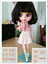 Blythe Nude Doll from Factory Matte Face Jointed Body Dark Brown Hair +Hands