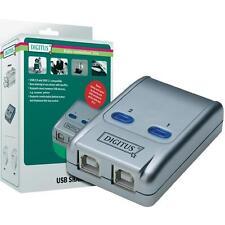 Switch commutatore USB 2.0 Digitus DA-70135 2 postazioni pc a 1 periferica nuovo