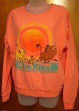 LION KING juniors lrg sweatshirt Disney crewneck Pumbaa & Timon & Simba cartoon