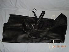 Xelement Leather Chaps Motorcycle Pants w/Zippers & Snaps (size 36)