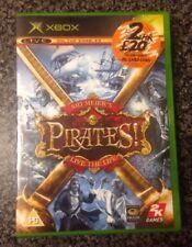 SID MEIER'S PIRATES! Retro Microsoft XBOX 2005 Complete Game EU & UK Version PAL