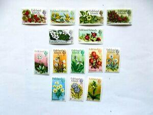 FALKLANDS ISLANDS: 1968 LSD Flowers defins 14 stamps to £1 U/M Sg323/45