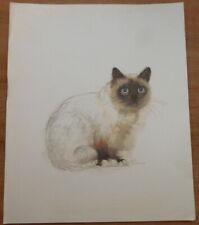Vintage Mads Stage Print - Burman Cat *