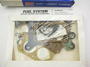 Gp Sorensen 96-206 Carburetor Repair Rebuild Kit - Holley 2300 2300G 2300MG 2BBL