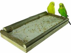 """Sitzbrett """"Groß"""" für Vögel (34x17cm) - Vogelsitzbrett für Sand und Futterkörner"""