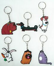 (Set of 6) THE SECRET LIFE OF PETS Rubber Keychain Backpack Accessory >NEW<