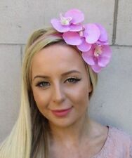 Bubblegum Pink Orchid Flower Fascinator Headpiece Headband Wedding Races 5911