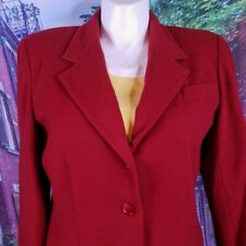 Harris Wallace Red Wool Blazer, XL