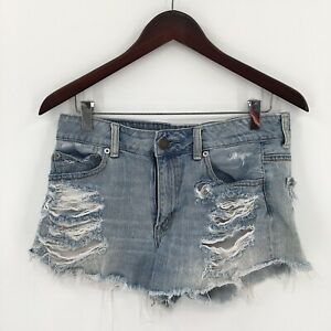 American Eagle outfitters AEO Hi-Rise Festival Cutoff distressed Shorts 8 womens