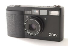 *Exc+++++* RICOH GR1v DATE BLACK Point & Shoot 35mm Film Camera GR-1v From JAPAN