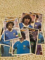 16 Cartes football mini posters equipe de france 1982
