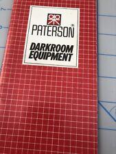 Vintage 1984 Paterson Darkroom Equipment Dealer Brochure CATALOG